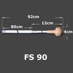FSE 60 Flaggenstab 60 cm  mit Erwachsenenknauf