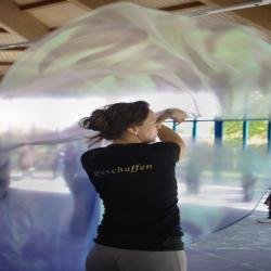 Flagge violett/Silber