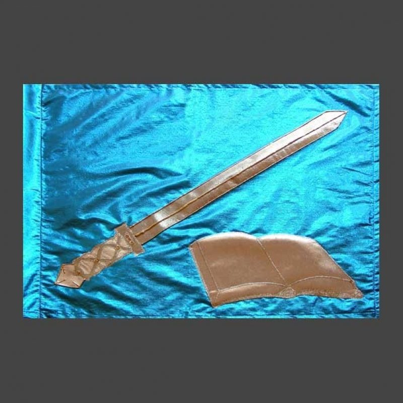 L Fahne Krone & Jesus